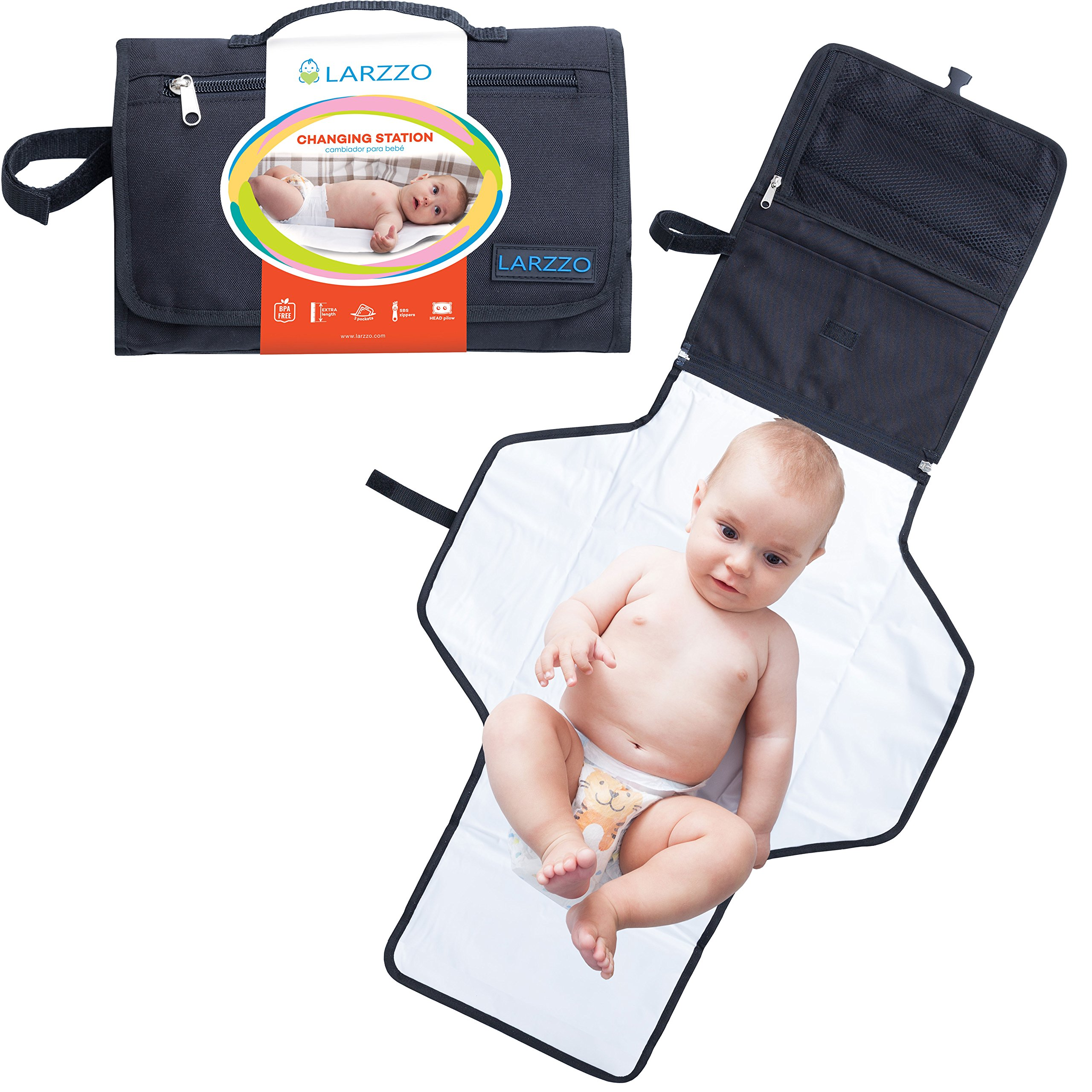 Diaper Changing Pad for Infants Baby Portable Diaper Changing Kit for Dads Moms-Changing Station Organizer Outdoor/&Travel Diaper Bag Foldable Waterproof Cushioned Diaper Changing Mat Yellow or Blue