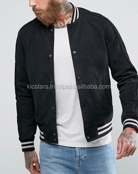 New Stylish Suede Leather Varsity Jacket For Men - Buy Bomber ... f6559a9fafdc