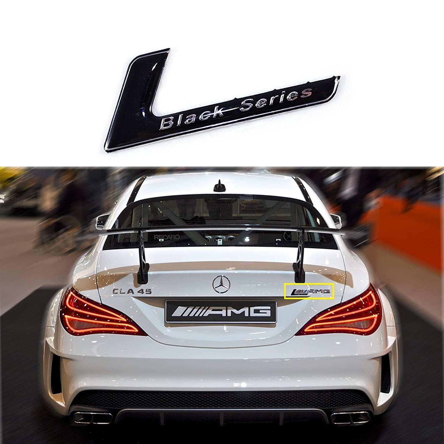 BRAND NEW 3D Adhesive CLK 55 Gloss Black Badge Emblem fits Mercedes Benz CLK55