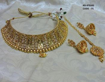 Antique Indian Kundan Bridal 18k Gold