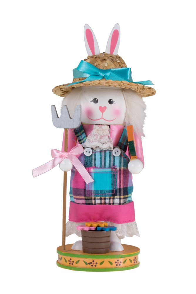 """Unique Gardening Bunny Rabbit Nutcracker 