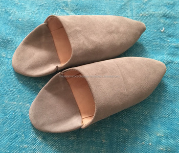 ea83aa42bfdb7 Perfect Moroccan Handmade Suede Leather Babouche Slides - Buy Moroccan  Leather Babouche Shoes Slippers Women,Moroccan Leather Babouche Shoes  Slippers ...