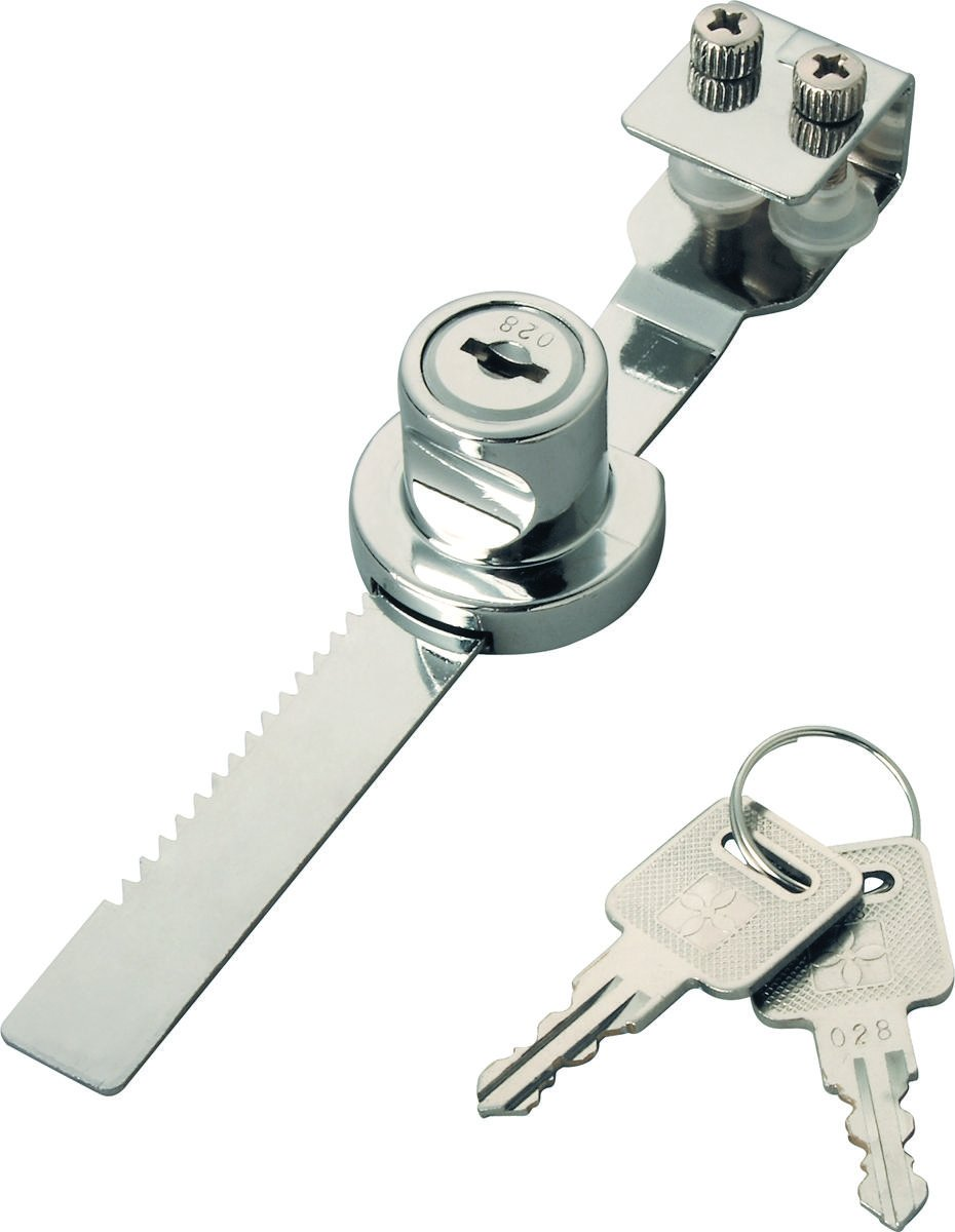 TOOLBASIX 6298343-3L Showcase Lock, 1/4-Inch, Chrome Plated Finish