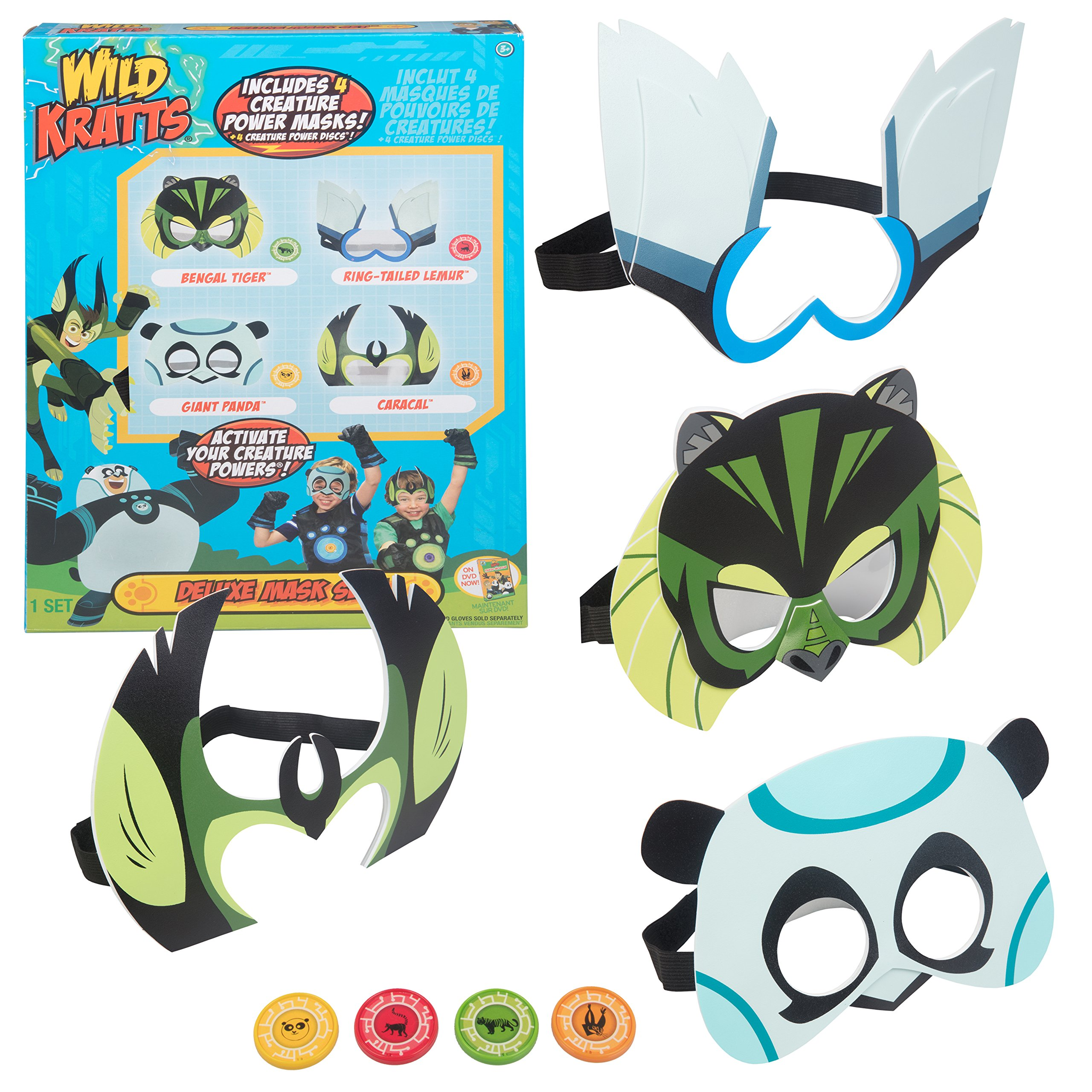 0fab3b4393bc Wild Kratts Toys Power Suit Masks - Set of 4 with Creature Power Discs