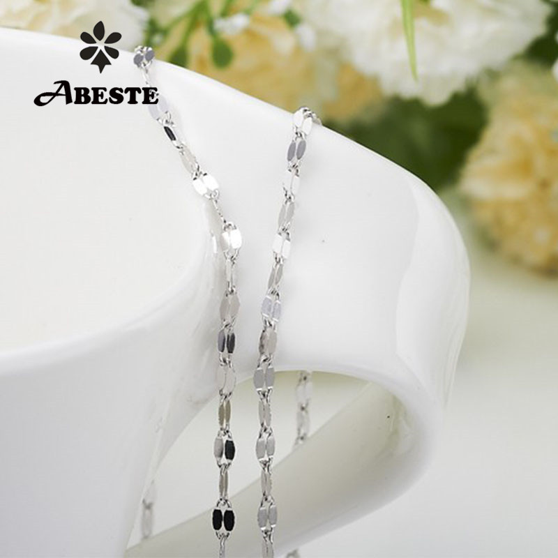 ABESTE Wholesale Fashion Jewelry 925 Sterling Silver 2 Twisted chains for Necklace Classic Style
