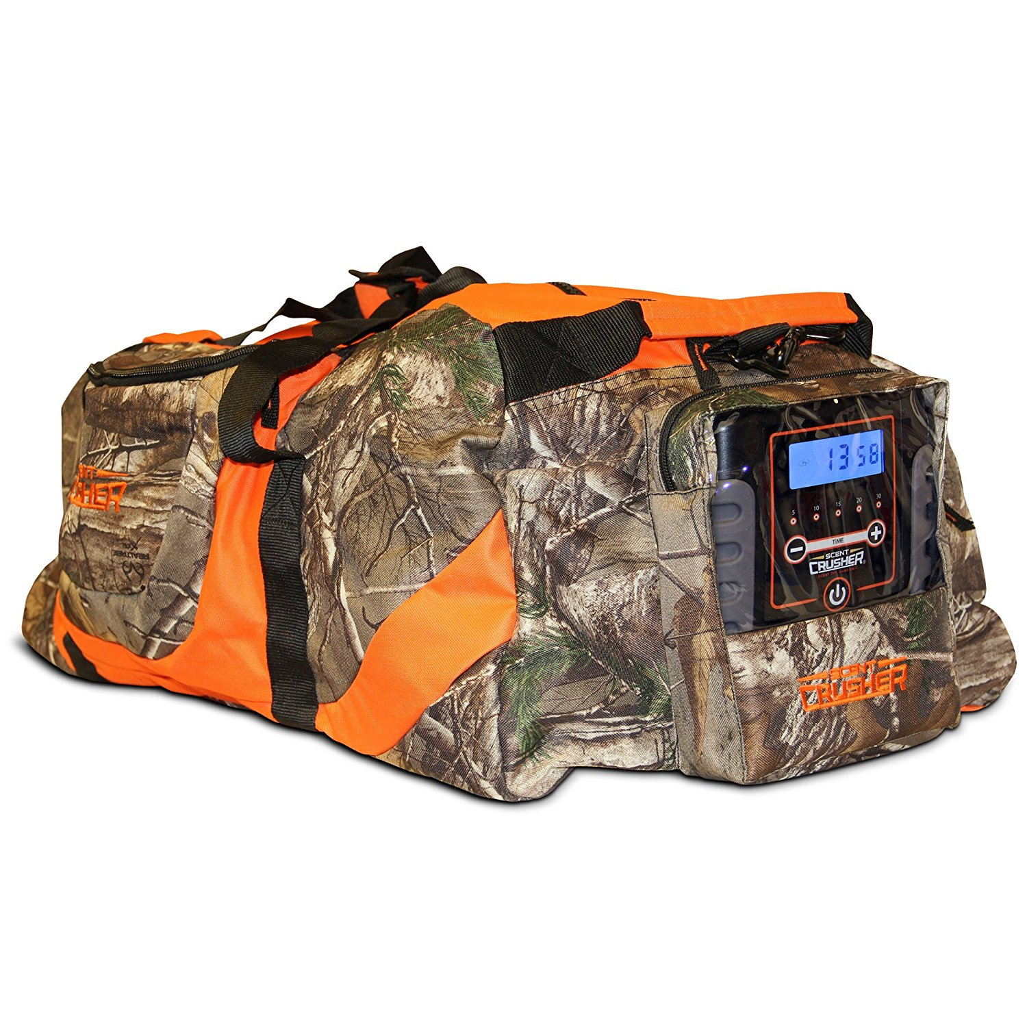 4b49657763279 Get Quotations · Scent Crusher Realtree Camo Gear Bag Ozone Generator -  Destroys Odors Within 30 mins, Use