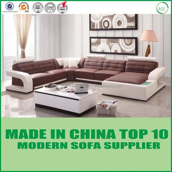 Miami Modern Furniture Wooden Frame Corner Sofa