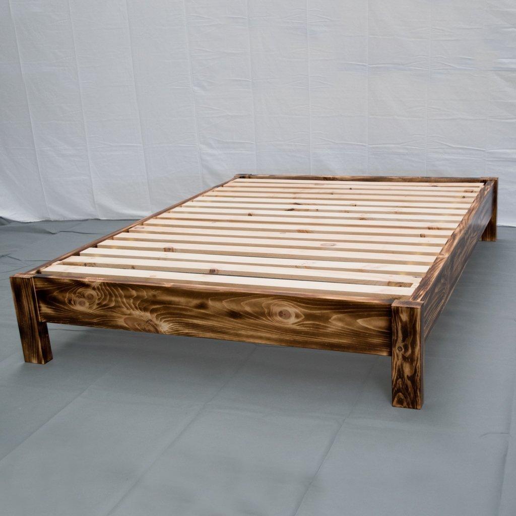 Torched Farmhouse Platform Bed - Full / Traditional Platform Frame / Wood Platform Reclaimed Bed / Modern / Urban / Cottage Platform Bed