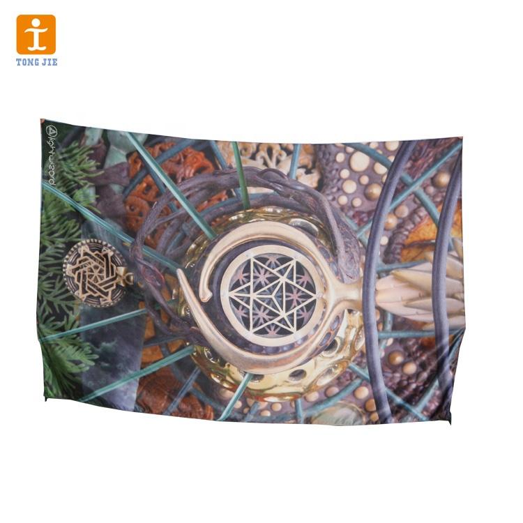 Custom design decorative polyester fabric digital printing wallpaper murals