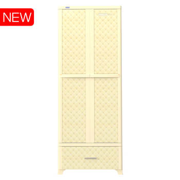 ABS Drawer cabinet closet No.1232 WING - L1N made in Vietnam Duy Tan Plastics cheap price cabinet for parents, free 10 hangers