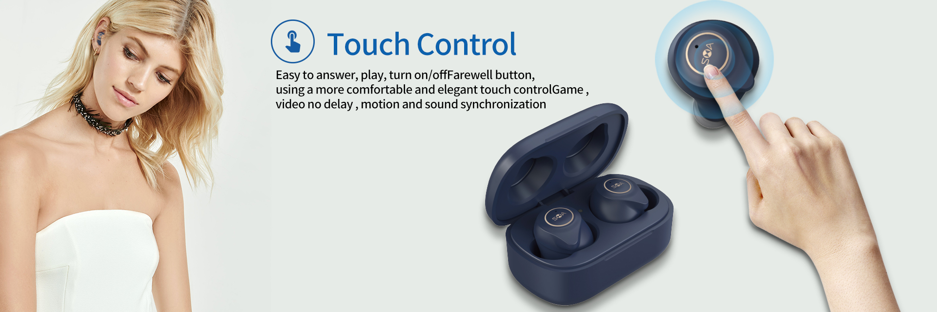 Realtek/QCC3020 optional noise cancelling Bluetooth 5.0 binautal music and call