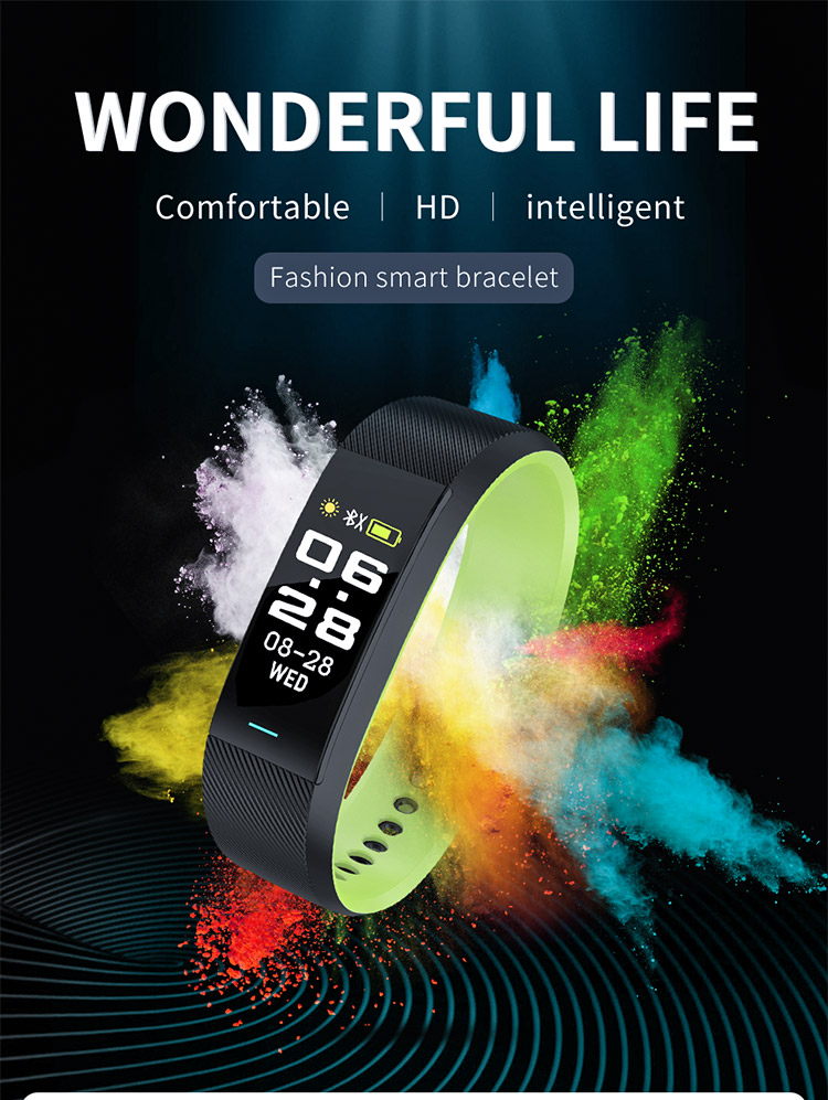cheap price fashion 3D color screen body fit heart rate