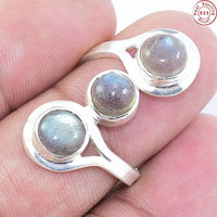 Fantabulous Labradorite silver ring with wholesale price gemstone silver jewelry 925 sterling silver ring