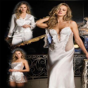Bondy 2377 Ecru Satin 6 Pieces - Buy Sleepwear Dressing Gown Night ...