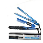 3 in 1 hair straightener and curling iron nano titanium private label flat iron wholesale Set