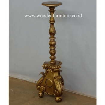 Wooden Accessories Antique Candle Holder French Style Vintage European Home Furniture