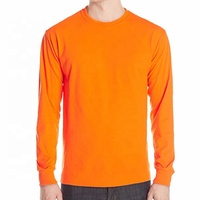 long sleeve T shirt fast dry and breathable orange t shirt