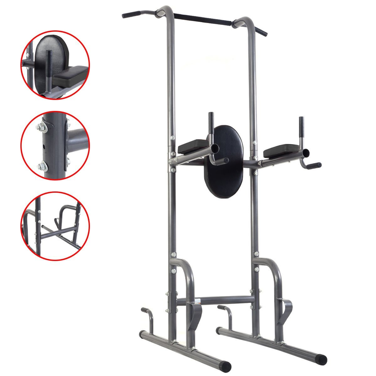 f8846694e7 Get Quotations · New Dip Station Chin Up Tower Rack Pull Up Weight Stand Bar  Raise Workout Home Gym