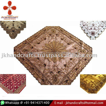 Beaded Decorative Tissue Shimmer Table Covers /cloth
