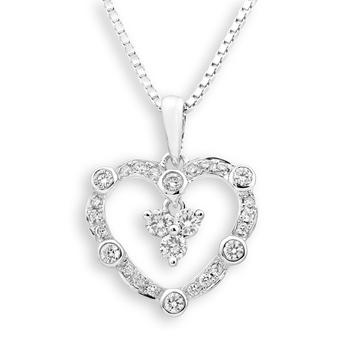 Valuable 0312ct 18k white gold diamond wedding pendants for her valuable 0312ct 18k white gold diamond wedding pendants for her types of engagement pendants settings mozeypictures Choice Image