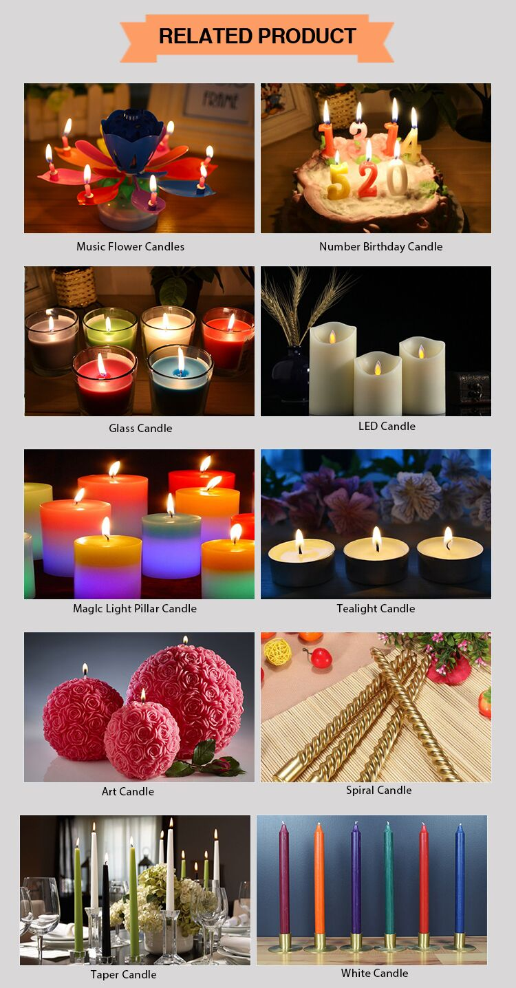 Special design decorative long burning time paraffin wax pillar candles for church decoration