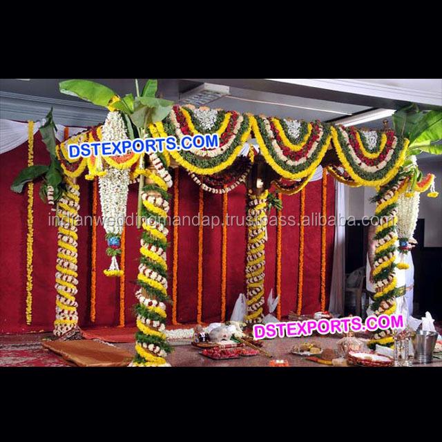Flower Decoration Chains For Wedding Mandap Wedding