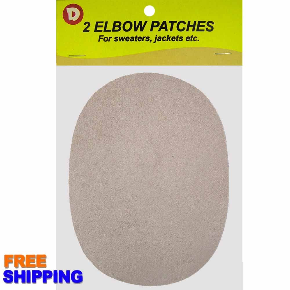 2 Natural Suede Leather Sew-On Elbow Repair Patches 4.5 x 5.5 in Teal