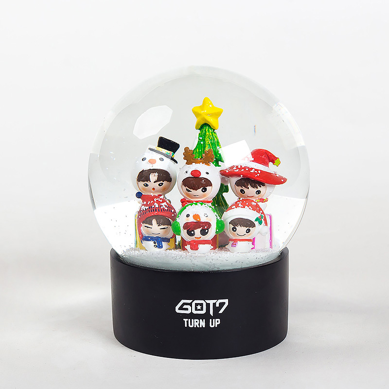 Christmas Ornaments Musical Snow Globe Brand Promotion Custom Christmas Decoration Music Gifts Snow Water Globe Snow