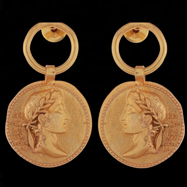Daesar 925 Sterling Silver Earring Studs Women Earrings Round Dorp Earrings Gold