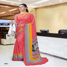 Viva N Diva Uniform Crêpe Saree