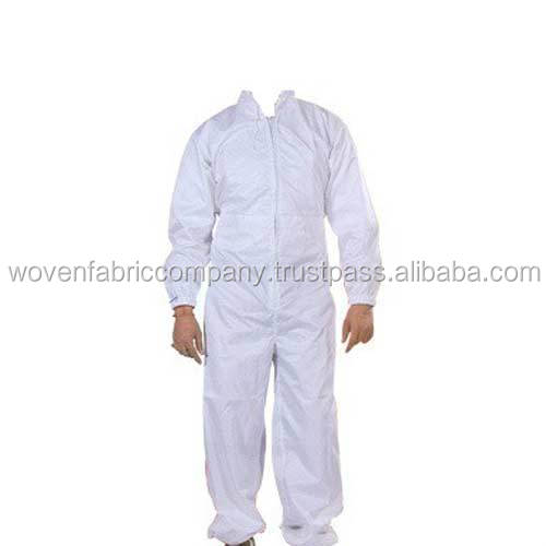 White microporous anti static coverall