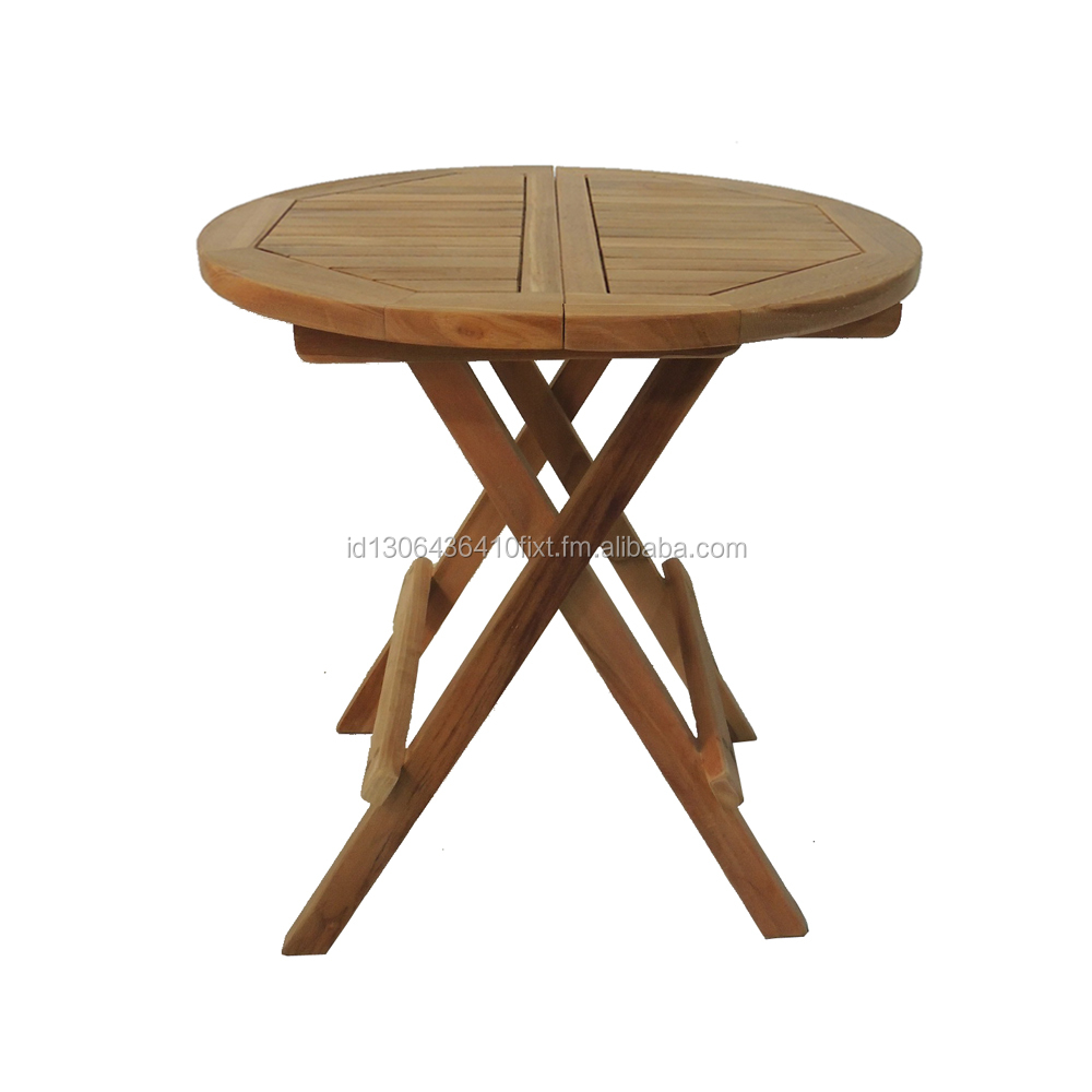 Natural square round wood table occasional outdoor furniture