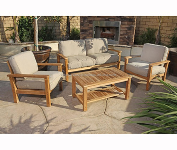 Modern Teak Wooden Outdoor Furniture Sofa Set Wood Product On Alibaba