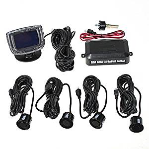 4 Parking Sensors Car Reverse Backup Front Rear LCD Display System Radar Alarm