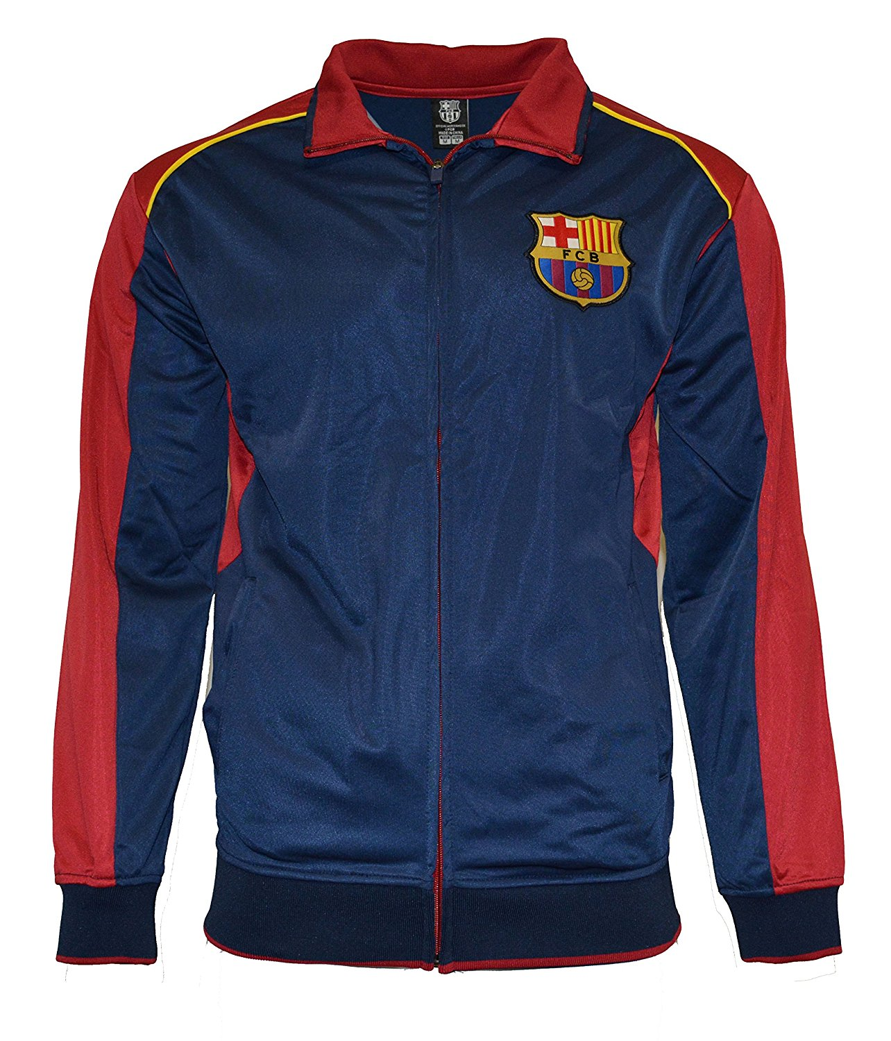84f895ca09b Get Quotations · Fc Barcelona Jacket Track Soccer Adult Sizes Soccer Football  Official Merchandise