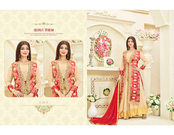 Designer Viscose Satin Design Banglori Silk Pakistani Wedding Wear Salwar Kammez Suit