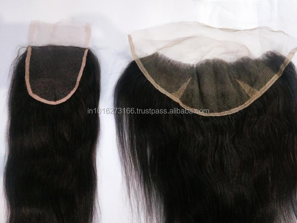 Wholesale Lace Closure Brazilian Human Hair ,Deep Wave 3 Bundles With Closure, 360 PrePlucked 13x6 Lace Frontal With Bundles