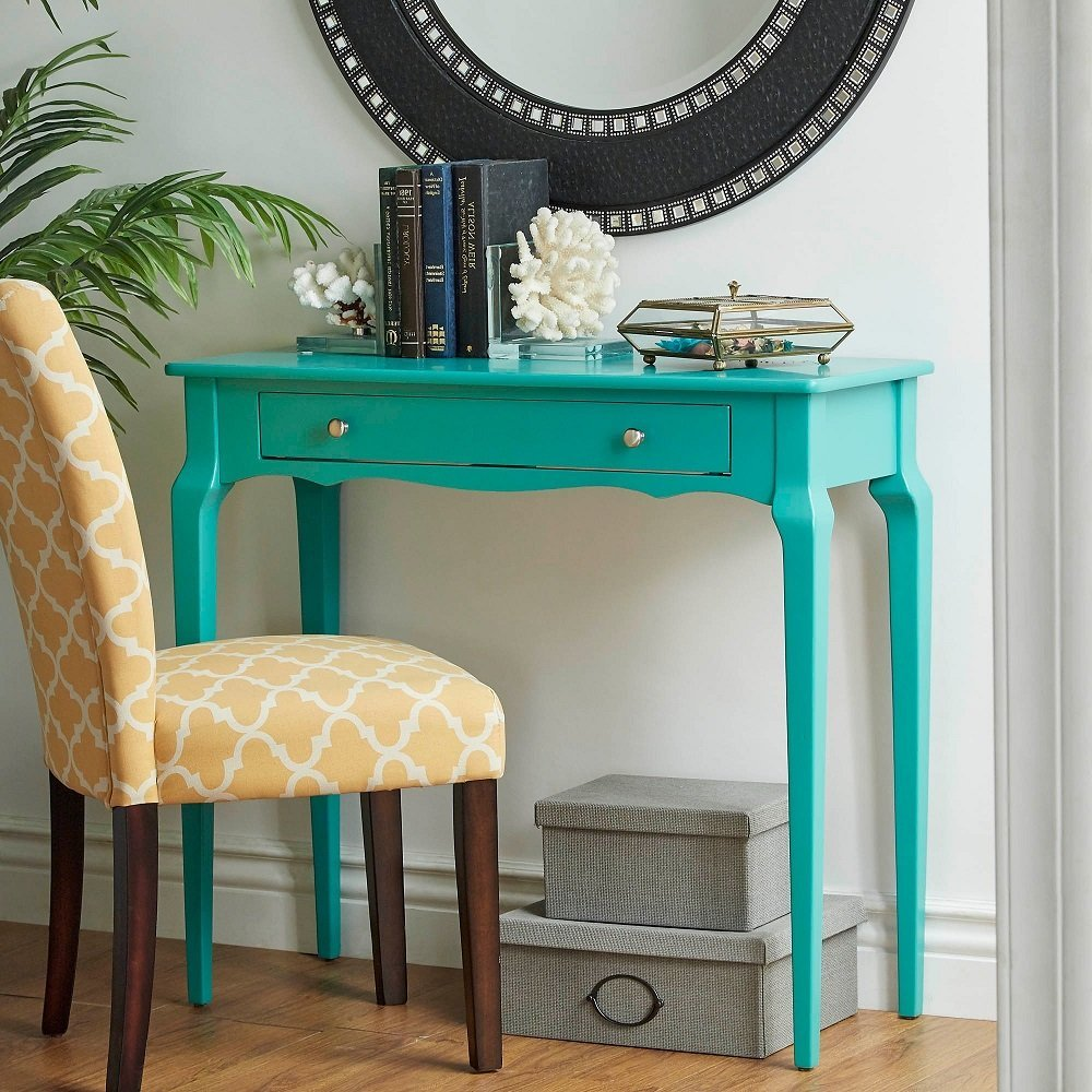 iNSPIRE Q Modern Daniella 1-drawer Wood Accent Console Accent Console Entryway Sofa Table Desk Bold Marine Green