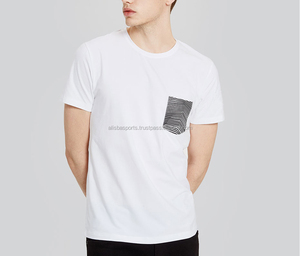 New Arrival White Short Sleeve T-shirts Men Fashion Casual Tops Tees 95% Cotton Simple Leisure T-shirt