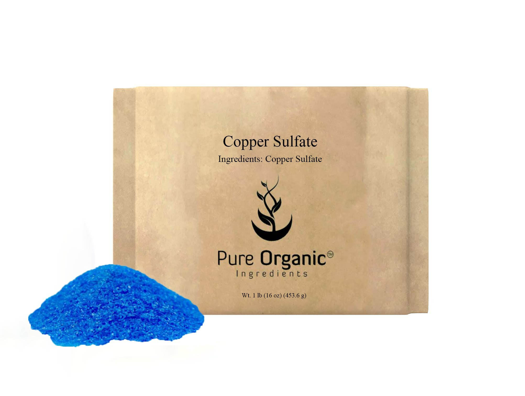 Copper Sulfate Pentahydrate 99% (2 lb (32 oz)) (fungicide) (reduce root growth in pipes) (Also available in 8 oz, 1lb, & 5 lb)