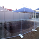 1350mm H x 1200mm L temporary pool fencing hot dipped galvanized base size 600x80x220mm