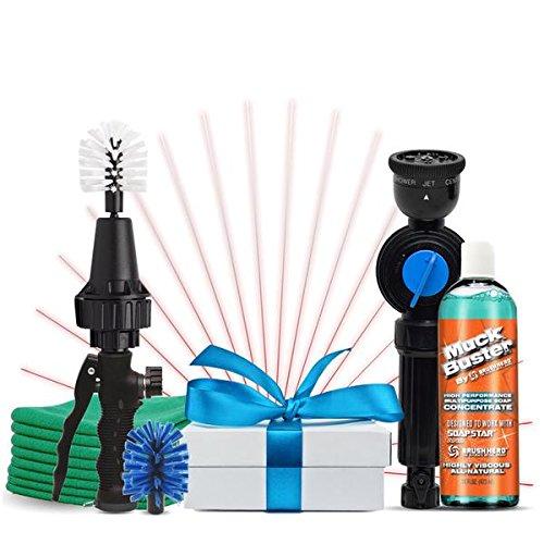Brush Hero Wheel Brush, Premium Water-Powered Turbine for Rims, Engines, Bikes, Equipment, Furniture and More - As Seen on Shark Tank (Mega Gift Set)