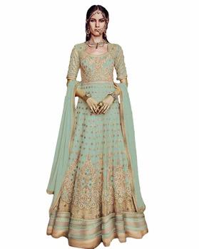 ba62b37c20 Anarkali Wedding Wear Floor Length Dress Material / Actress Party Wear  Anarkali Suits (anarkali dresses