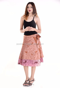 Indian Beautiful rapron Design skirts party dress for women Knee Length  Wrap Skirts Summer Fashion Beach 32f25150c