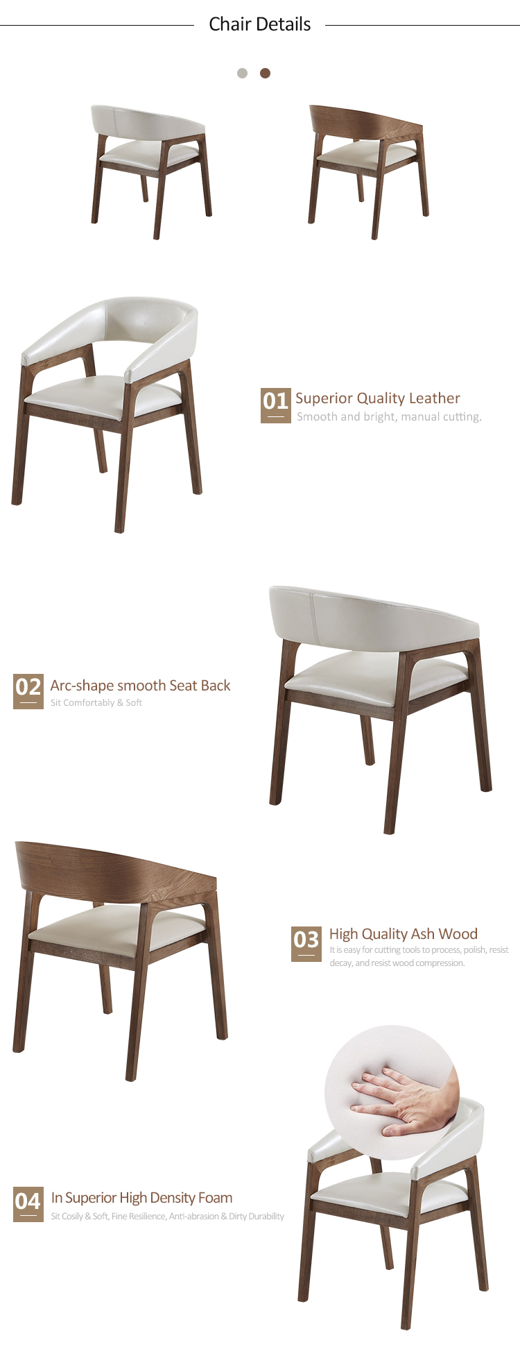 4-solid wood chair