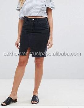 46b35aba3 Custom New Look Denim Pencil Skirt - Buy Denim Skirt Jeans Short ...