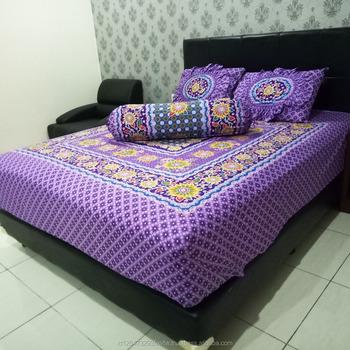 Great 100% Cotton Fabric For Bed Set Batik Full Block Motive Printed Sheets