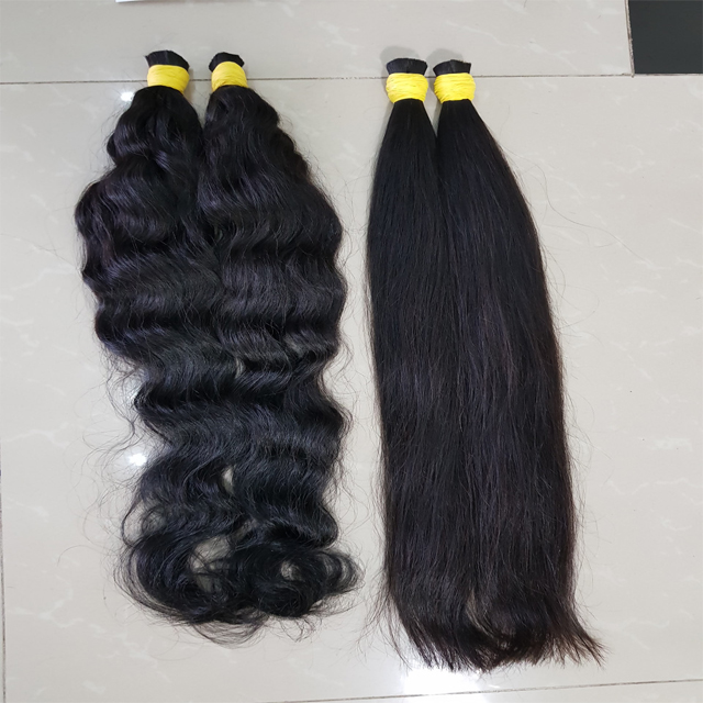 Grade 11A Brazilian Hair Weaving 100% Human Bulk Straight Hair Braiding Hair