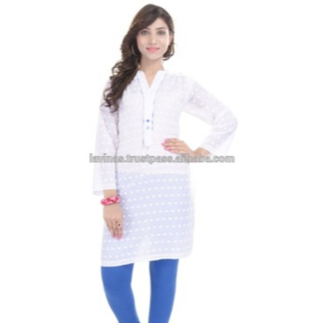c3031230818075 Indian Handmade chicken Cotton White Kurti Handmade Dress Sexy Formal Women  Clothing, View indian traditional clothing, Lavinas Product Details from  LAVINAS ...