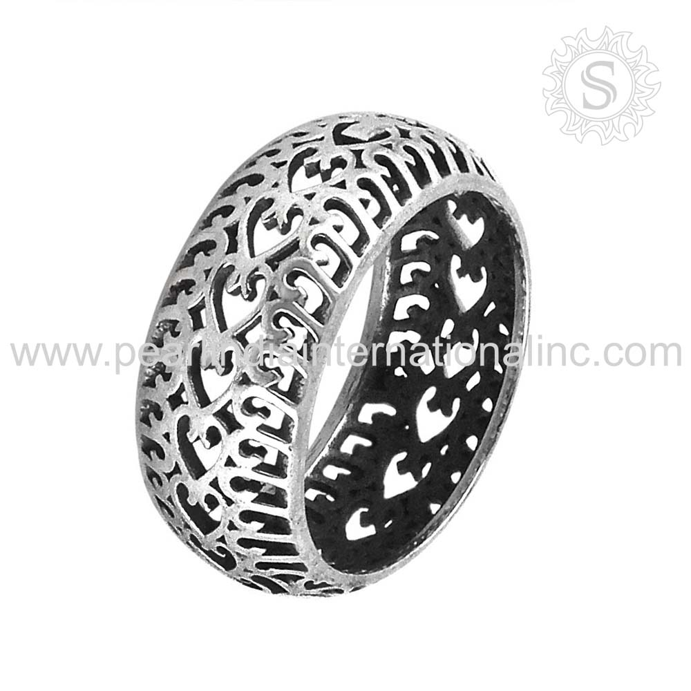 Elegant 925 sterling silver ring wholesale jewelry jaipur handmade plain silver ring